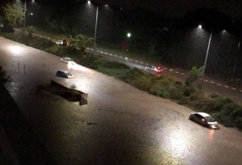 Дожди затопили дома и дороги в Ашкелоне
