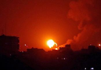 Вертолет ВВС Израиля нанес удары в Газе